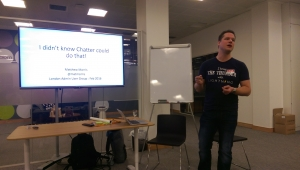 """Matt Morris Kicking us off with """"I didn't know chatter could do that"""""""