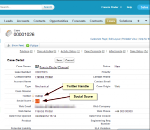 Social Image example in Salesforce